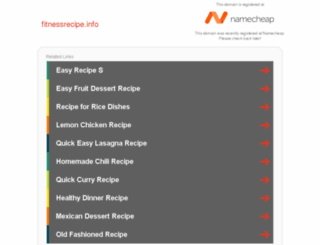 fitnessrecipe.info screenshot