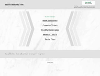 fitnessrestored.com screenshot
