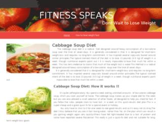 fitnessspeaks.webs.com screenshot