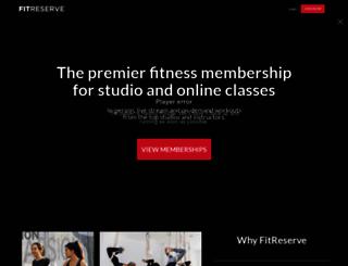 fitreserve.com screenshot