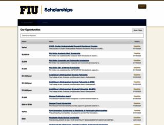 fiu.academicworks.com screenshot