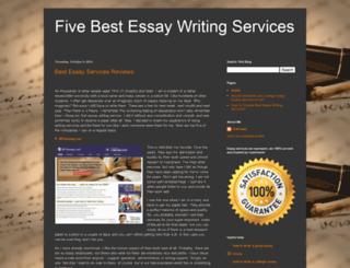 fivebestessaywritingservices.blogspot.com screenshot