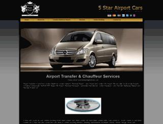 fivestarairportcars.co.uk screenshot