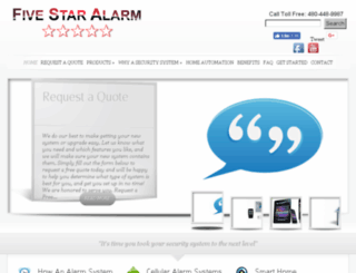 fivestaralarm.com screenshot
