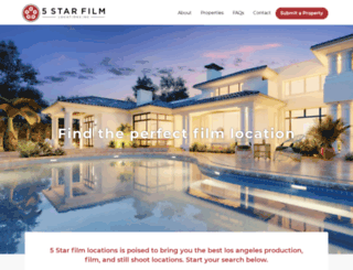 fivestarfilmlocations.com screenshot