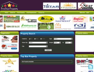 fivestarproperty.in screenshot