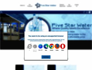 fivestarwater.co.za screenshot
