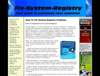 fix-system-registry.com screenshot