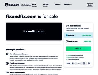 fixandfix.com screenshot
