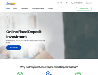 fixeddepositbazaar.com screenshot