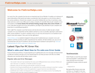 fixerrorhelps.com screenshot