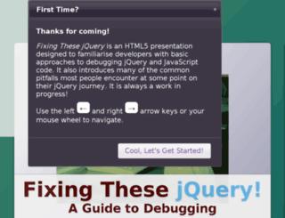 fixingthesejquery.com screenshot