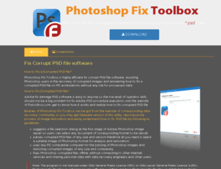 fixpsdfile.com screenshot