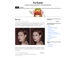 fixrumer.wordpress.com screenshot