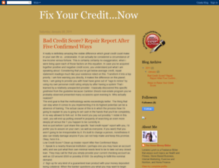 fixyourcredit-now.blogspot.com screenshot