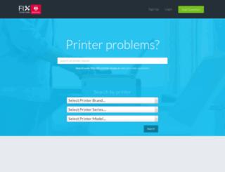 fixyourownprinter.com screenshot