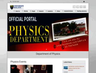 fizik.um.edu.my screenshot