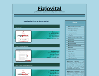 fizjovital.pl screenshot