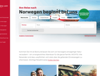 fjordline.de screenshot