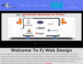 fjwebdesign.com screenshot