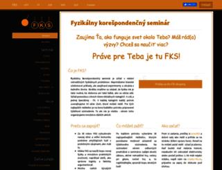 fks.sk screenshot