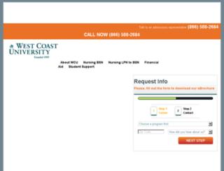 fl.westcoastuniversity.edu screenshot