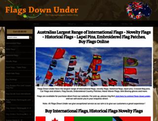 flagsdownunder.com.au screenshot