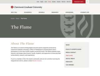 flame.cgu.edu screenshot