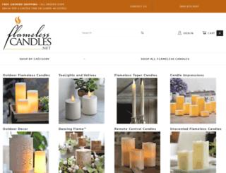 flamelesscandles.net screenshot