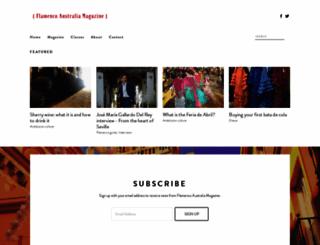 flamencoaustralia.org screenshot