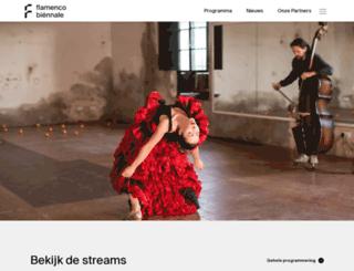 flamencobiennale.nl screenshot
