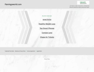 flamingoworld.com screenshot