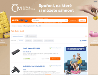 flash-disky.hledejceny.cz screenshot