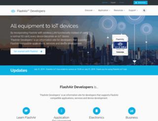 flashair-developers.com screenshot