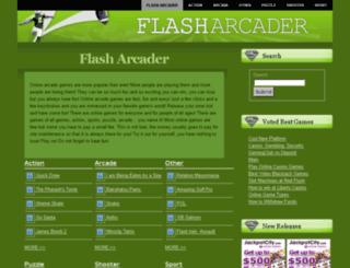 flasharcader.com screenshot