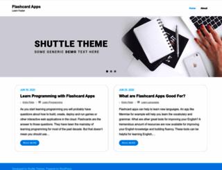 flashcardapps.info screenshot