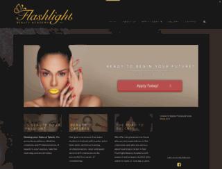 flashlightbeautyacademy.com screenshot