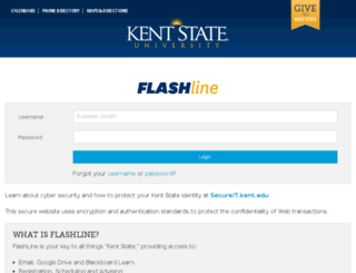 flashline-beta.kent.edu screenshot