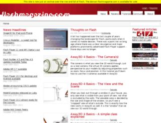 flashmagazine.com screenshot