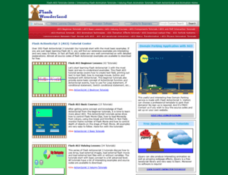 flashwonderland.com screenshot