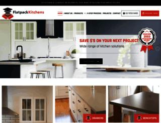 flatpack-kitchens.com.au screenshot