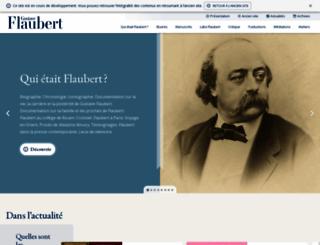 flaubert.univ-rouen.fr screenshot