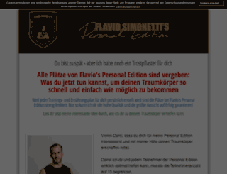 flaviosimonettitrainingsplan.de screenshot