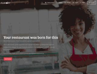 flavoryapp.com screenshot