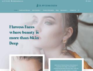 flawlessfaces.co.za screenshot