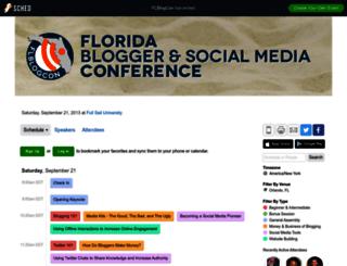 flblogcon2013.sched.org screenshot
