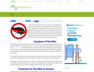 fleabitesonhuman.com screenshot