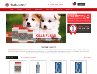 fleabuster.com screenshot