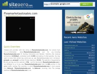 fleamarketautosales.com.siteaero.com screenshot