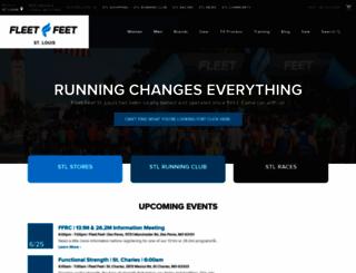fleetfeetstlouis.com screenshot